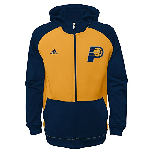 adidas Indiana Pacers Youth NBA 2014 PreGame On-Court Hooded Full Zip ()