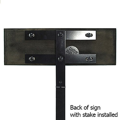 42 Inch Straight Ground Stake - For Mounting Your Atlas Signs and Plaque ONLY, USA Made