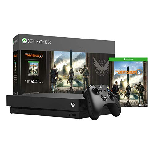 Xbox One X 1TB Console – Tom Clancy's The Division 2 Bundle (Renewed)