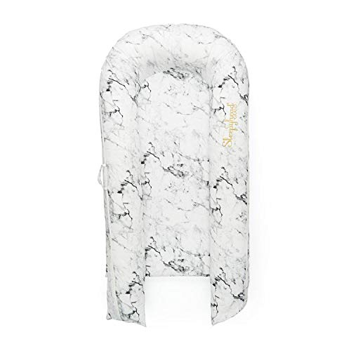 Sleepyhead Grand Pod - Perfect for Cuddling, Lounging and Co Sleeping. Lightweight for Easy Travel - Suitable from 9-36 Months (Carrara Marble)