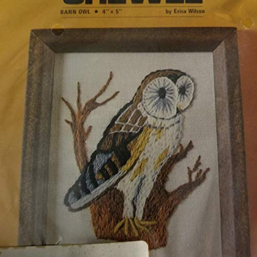 Columbia Minerva Crewel Kit Barn Owl 4 X 5