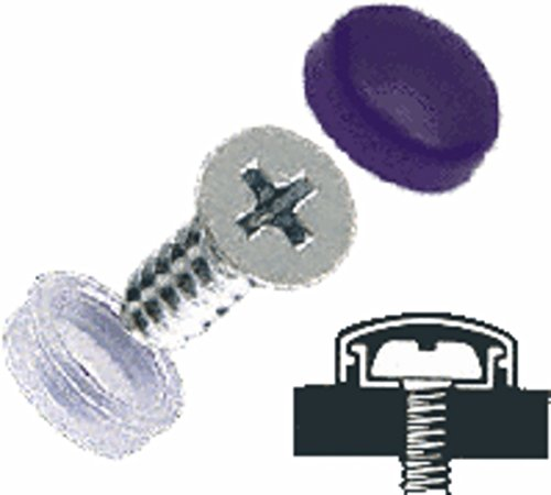CRL Black Flat Large Snap Cap Screw Covers - Package of 100