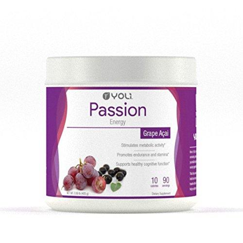 Yoli Passion Energy Drink - Grape Acai Flavored - Canister by Yoli, LLC by YOLI®