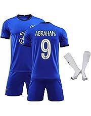 20/21 Voetbalshirt Havertz#29 Mount#19 Jerseyset voor volwassenen Driedelig pak Voetbaltrainingskleding (blauw)