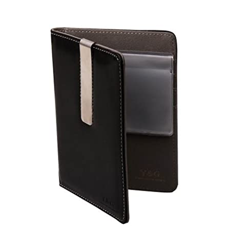 PW1005 Black Gray Perfect Accessories Gifts Idea For Boss Travel Passport Creative Fashion Leather Holder (Grigio Suede Piattaforma)