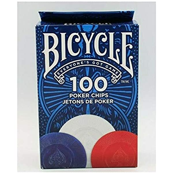 Bicycle Poker Chips 100 Count With 3 Colors Toys Games