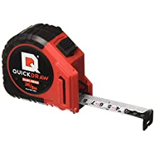QUICKDRAW PRO DUAL-READ 26 ft / 8M (Imperial / Metric) Self Marking Tape Measure - 1st Measuring Tape with a Built in Pencil - Contractor Grade Steel Tape - Power Locking Tape Ruler