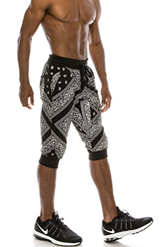 JC DISTRO Mens Hipster Bandana French Terry Jogger for sale  Delivered anywhere in USA