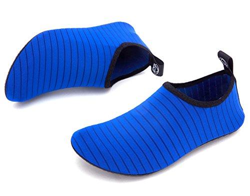 Giotto Sport Vann Sko Svømme Yoga Stranden Aqua Sokker For Kvinner Menn Stripe / Blå