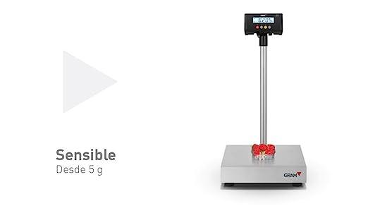 Báscula industrial Gram Precision modelo ZMissil F3-300 (300Kg/50g) dimensiones del
