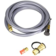 Mr. Heater 12 Foot Natural Gas and Propane Gas Hose Assembly 3/8 Inch Female Pipe Thread with Quick Disconnect System x 3/8 Inch Male Flare #F273720