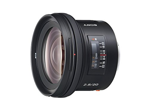 Sony SAL-20F28 20mm f/2.8 Wide Angle Lens for Sony Alpha Digital SLR Camera by Sony