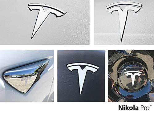 Nikola Pro Tesla Model 3 Logo Decal Wrap Kit (Satin White)