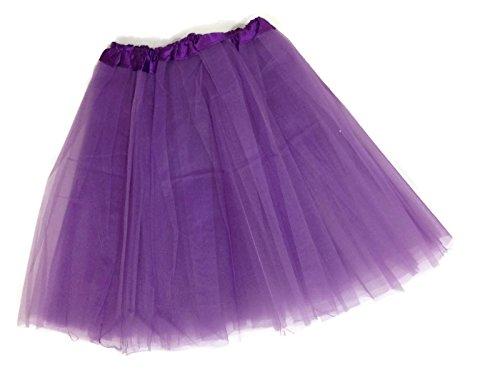 Adult Teens Ballet Tutu Skirt By Mystiqueshapes (Purple) ()