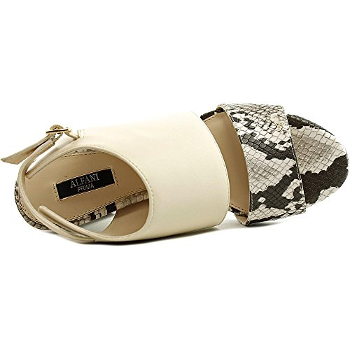 Alfani - Sandalias de vestir para mujer Natural Python
