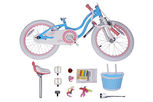 Royalbaby Stargirl Girl's Bike, 14 inch Wheels, Blue
