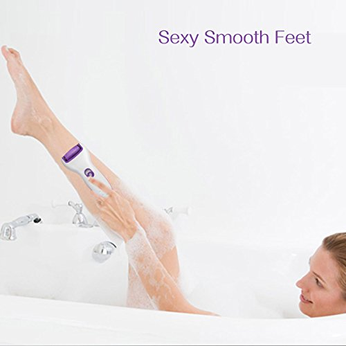 ZoiyTop Electric Perfect Wet & Dry Rechargeable Foot File,Professional Callus Remover Pedicure Tools with Extra Roller Head by ZoiyTop (Image #5)