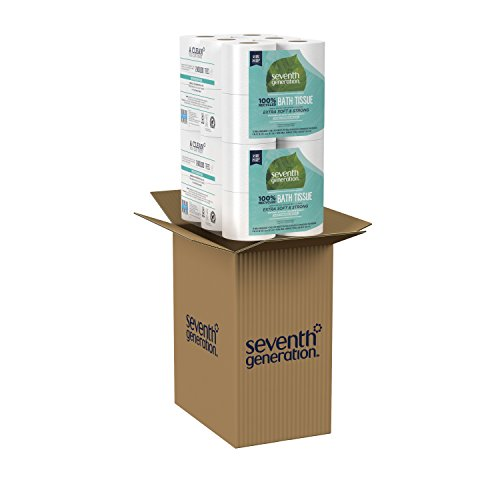 Seventh Generation Toilet Paper, Bath Tissue, 100% Recycled Paper, 24 Rolls (Packaging May Vary)