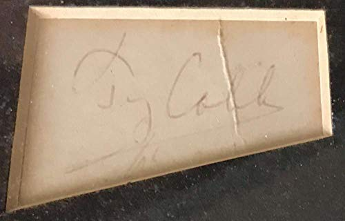 Ty Cobb Signed Autographed 1x1.75 Album Page JSA