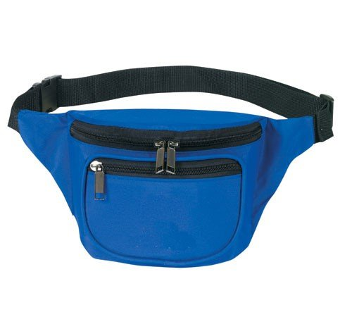 Yens® Fantasybag 3-Zipper Fanny Pack-Royal Blue,FN-03, Outdoor Stuffs