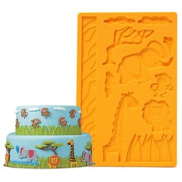 farook-3d-lace-zoo-silicone-embossing-mould-animal-jungle-world-fondant-cake-mold
