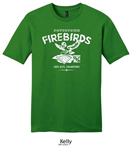 Throwbackmax 1970 Pottstown Firebirds ACFL Champs Football Tee Shirt (2X, Kelly) -