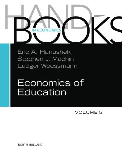 Handbook of the Economics of Education, Volume 5 (Handbooks in Economics)