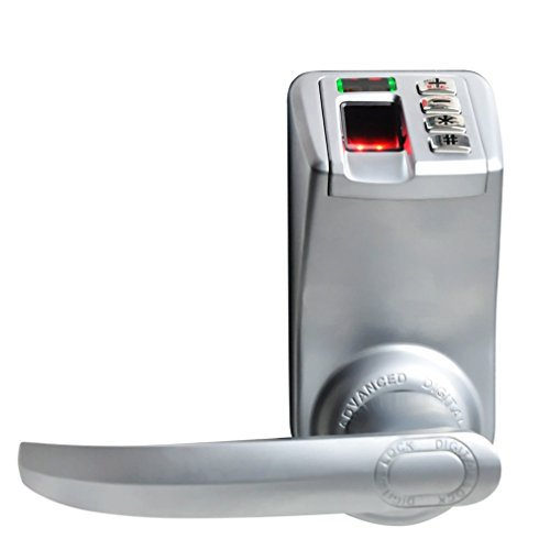 LED Display Trinity Keyless Fingerprint Door Lock L/R Handle