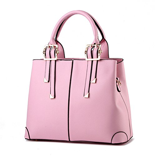 Bag Leather Simple Classic Pink Tote Handle Bags Handbags Luckywe Shoulder Top Stylish Awp44nZxq