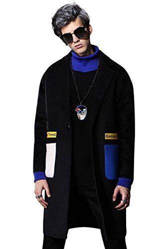 GENANX Brand Couple Style Woollen Coat Men Medium Long Style Loose Man Woolen Overcoat size M-XXL by GENANX