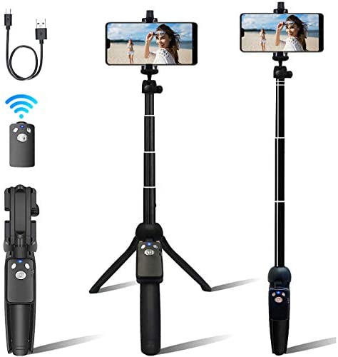 Selfie Stick, Professional Selfie Stick Tripod, 40-inch Extendable Selfie Stick with Wireless Remote and Tripod Stand for iPhone 6 7 8 X Plus,Samsung Galaxy Note 9/S9/Huawei/Honor and More