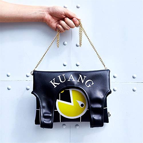 noir d'origine sac nouveau sac petit casual sac bandoulière vague portable d'impression femme LANDONA personnalisé sac Hanamura à Bang Messenger coréenne 1RHwqng