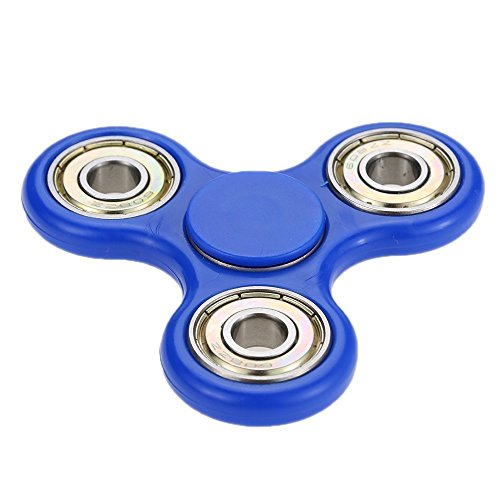 The Anti-Anxiety 360 Spinner Helps Focusing Fidget Toy [3D Figit] Premium Quality EDC Focus Toy for Kids & Adults T-Aannd Best Stress Reducer Relieves ADHD Anxiety and Boredom Ceramic Bearing (Blue)
