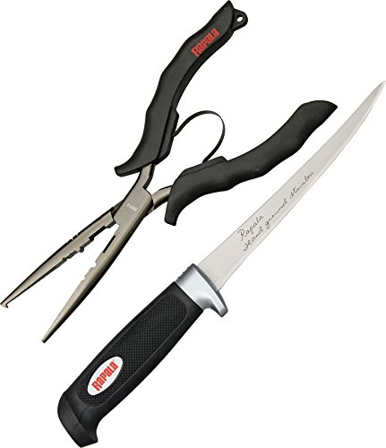 Rapala Fillet Tool Combo 8 1/2 Inch Fishing Pliers w/ 6 Inch Soft Grip Fillet Knife & Sheath Rapala Stainless Steel Fishing Pliers