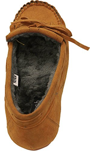Refresh Nina Womans Comfort flat Suede Loafer Fleece Oxford bottom soft sole moccasins Yellow 8wlstN
