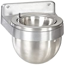 Rubbermaid Commercial Aluminum Smokers Station Wall Mount Urn, Round, 9.5-Inch Width x 8-Inch Height