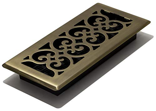 Decor Grates SPH410-A Floor Register, 4-Inch by 10-Inch, Antique Brass