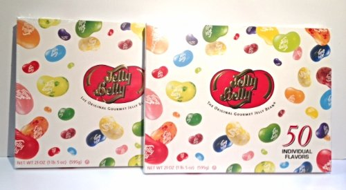 Jelly Belly 50 Flavor Gold Classic Gift Box - Pack of 2 (Boxed)