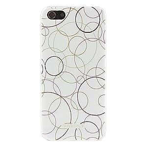 HP-Caso duro del patrón de círculo colorido para el iphone 5/5s