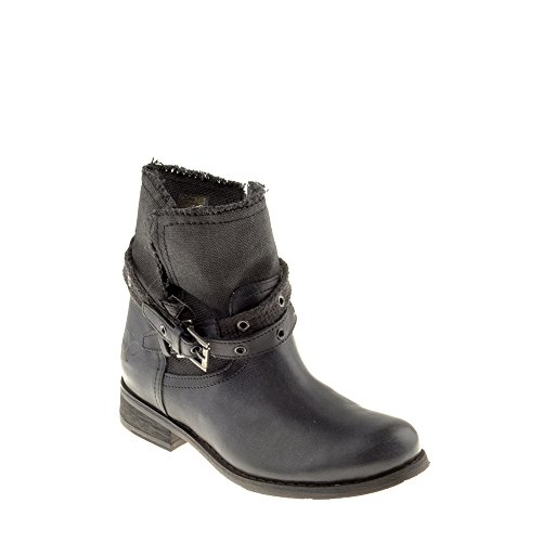 Felmini Chaussures Femme - Tomber en Amour avec Beja B135 - Bottes Cowboy & Biker - Cuir V