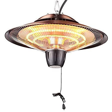 Outdoor or Indoor Use DONYER POWER 2000W Electrical Patio Heater Ceiling Mounted