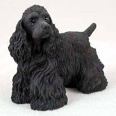 Figurine Spaniel Black Cocker (COCKER SPANIEL Black Dog Figurine stands NEW RESIN DF15B)