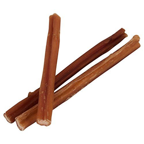 Pawstruck 7 Straight Skinny Bully Sticks for Dogs or Puppies All Natural Odorless Bully Bones Grass-Fed Beef Small Thickness Dog Chew Dental Pizzle Treats Best Thin Steer Bullie Stix