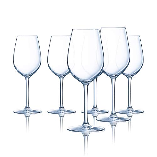 Chef & Sommelier L9235 Domaine 13 Ounce All Purpose Tulip Wine Glass, Set of 6, 13 oz. Clear