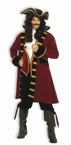 Forum Designer Deluxe Pirate Captain Costume, Multi, (Pirate Costume For Men)