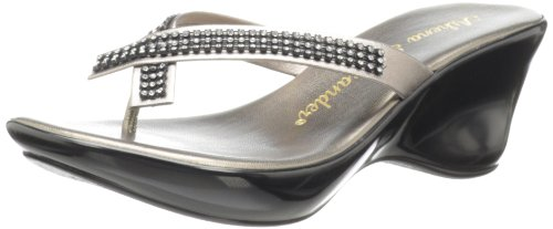 Athena Alexander Women's Roxi, Pewter, 7 M (Athena Alexander Leather Sandals)