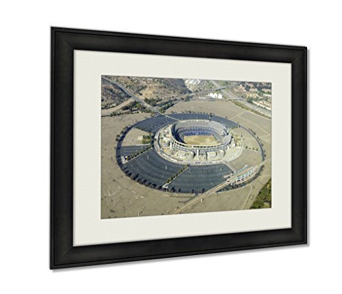 ashley-framed-prints-aerial-view-of-qualcomm-stadium-san-diego-black-20x25-art