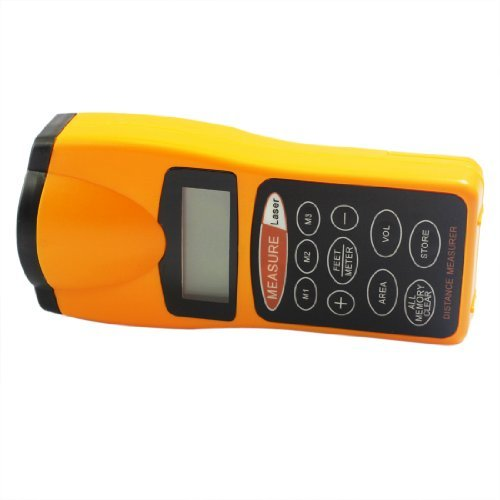(Generic CP-3007 High Quality LCD Ultrasonic Distance Meter Measure + Laser Pointer Orange)