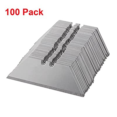 PanelTech 100Pack Utility Knife Blades Knife Blade Cutter Razor Cutting Boxes/Plywood/ Leather /Plastic/ Sheetrock