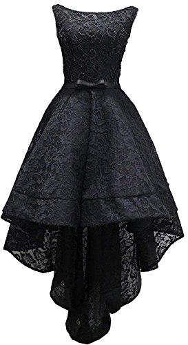 Soirée En Dentelle À Manches Courtes Salut Basse Robe De Bal Des Femmes Diandiai Robe Noire 2018 Au Large De La Robe Maxi Épaule Style4 Noir